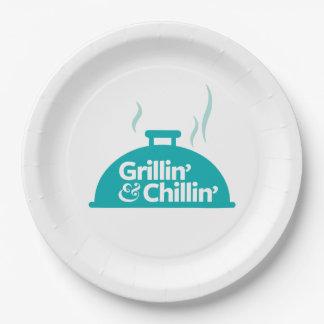 Grillin' & Chillin' Paper Plate