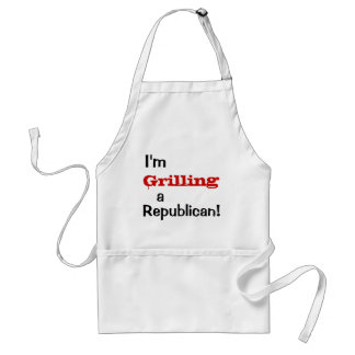 Grilling a Republican - Funny Political Quote Standard Apron