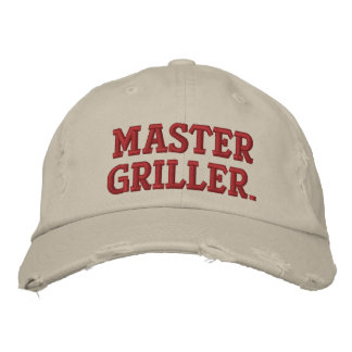 Grilling Hat Embroidered Baseball Caps