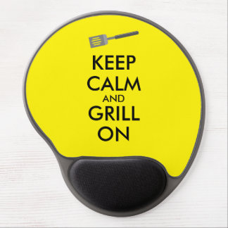 Grilling Keep Calm and Grill On Barbecue Spatula Gel Mouse Pad