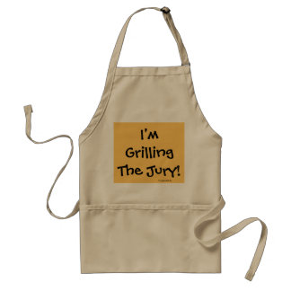 Grilling The Jury! Funny Lawyer Quote Pun Standard Apron