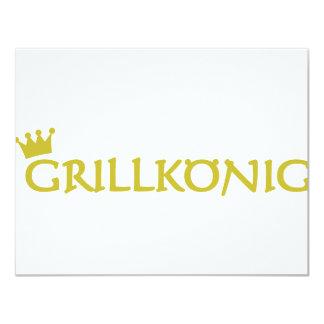 grillkönig text icon 11 cm x 14 cm invitation card
