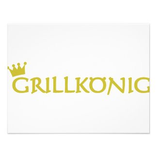 grillkönig text icon personalized announcements