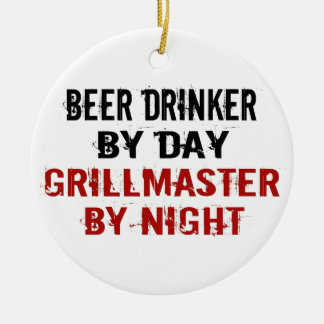 Grillmaster Beer Drinker Christmas Ornament