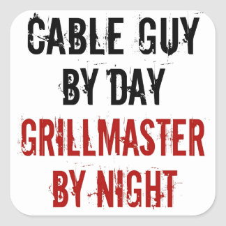 Grillmaster Cable Guy Square Sticker