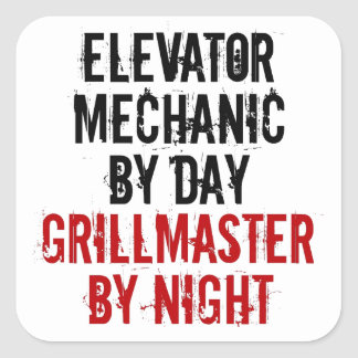Grillmaster Elevator Mechanic Square Sticker