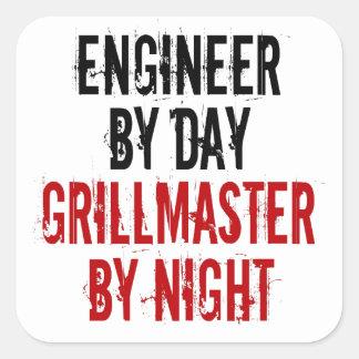 Grillmaster Engineer Square Sticker