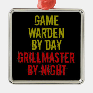Grillmaster Game Warden Christmas Ornament