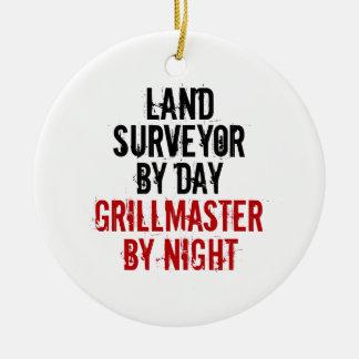 Grillmaster Land Surveyor Christmas Ornament
