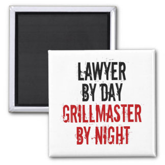 Grillmaster Lawyer Square Magnet