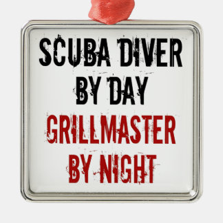 Grillmaster Scuba Diver Christmas Ornament