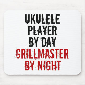 Grillmaster Ukulele Player Mouse Pad