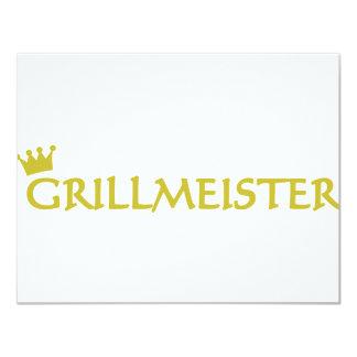 Grillmeister icon 11 cm x 14 cm invitation card