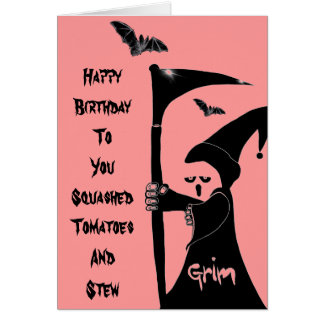 Grim Jake Wishes Happy Birthday to You Card