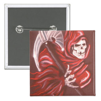 Grim Reaper 2 15 Cm Square Badge