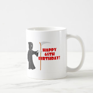 Grim Reaper 65th Birthday Mug