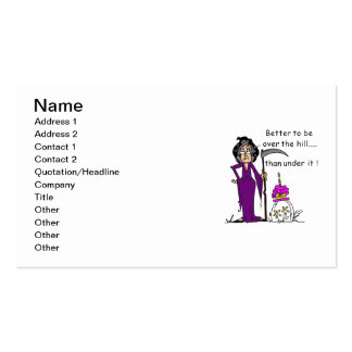 Grim Reaper Birthday Humor Business Card Template