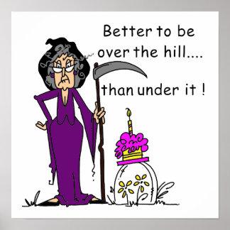Grim Reaper Birthday Humor Poster