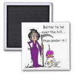 Grim Reaper Birthday Humour Square Magnet