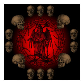 Grim Reaper Bone Collection Poster