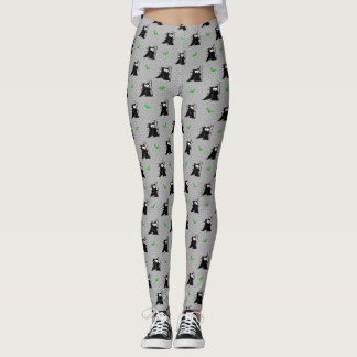 Grim Reaper Couple Holiday Kiss of Death Leggings