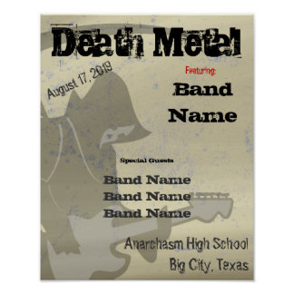 Grim Reaper Customizable Poster