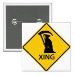 Grim Reaper / Death Crossing Highway Sig 15 Cm Square Badge