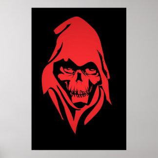 Grim Reaper Face Poster