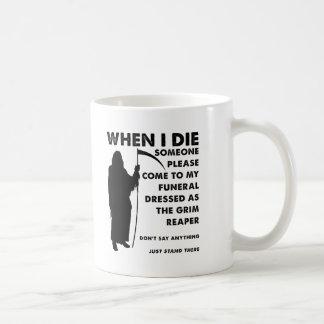 Grim Reaper Funeral Funny Mug