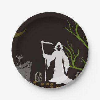 Grim Reaper Graveyard Paper Plates