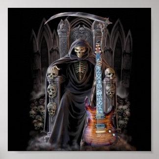 Grim Reaper Guitar in Hell Poster