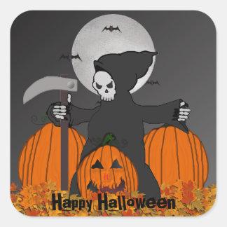 Grim Reaper Halloween Stickers