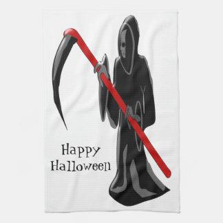 Grim Reaper Halloween Tea Towel