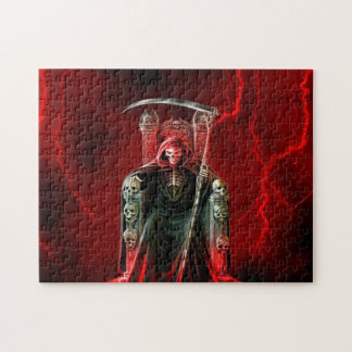 Grim Reaper On His Throne Jigsaw Puzzle