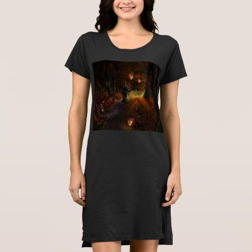 Grim Reaper on jack-o-lantern path Dress