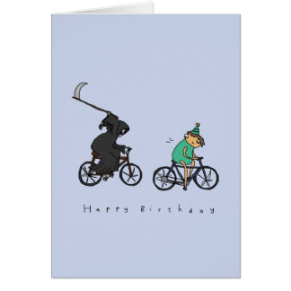 Grim Reaper on Wheels | Dark Humour Birthday Card
