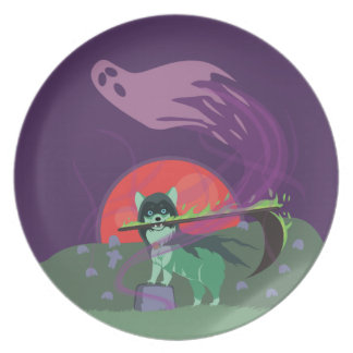Grim Reaper Puppy Party Plates