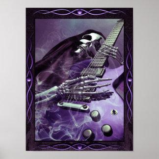 Grim Reaper's Guitar Poster (12 x 16)