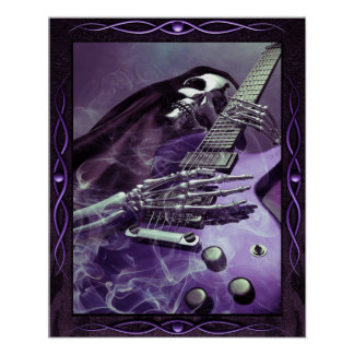 Grim Reaper's Guitar Poster (16 x 20)