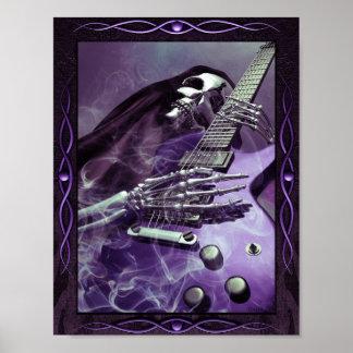 Grim Reaper's Guitar Poster (8.5 x 11)