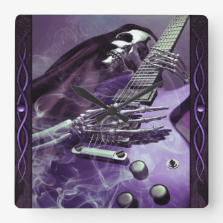 Grim Reaper's Guitar Wall Clock
