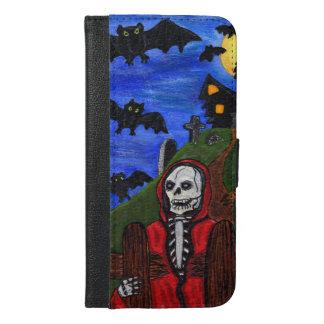 Grim Reaper Skeleton Bats Cemetery Moon Halloween