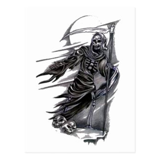 Grim Reaper Taking Souls Postcard