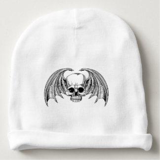 Grim Reaper Winged Skull Baby Beanie