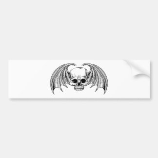 Grim Reaper Winged Skull Bumper Sticker
