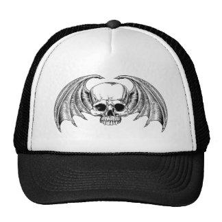 Grim Reaper Winged Skull Cap