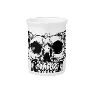 Grim Reaper Winged Skull Drink Pitcher