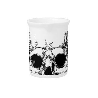 Grim Reaper Winged Skull Pitcher