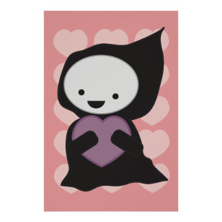 Grim Reaper with Heart Print