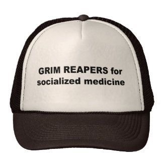 Grim reapers for socialized medicine trucker hats